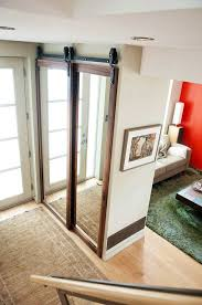 bypass closet mirror sliding barn door