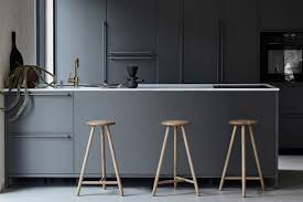 grey modern kitchen... Perch by Salla Luhtasela and Wesley Walters    Kitchen bar design, Kitchen interior design modern, Kitchen interior