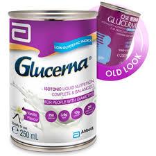 glucerna liquid for diabetics carton of