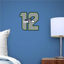 Seattle Seahawks 12 Logo Teammate Seattle Seahawks Nfl Sports Wall Decals Wall Decals Logo Wall