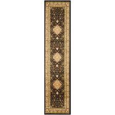 black ivory 2 ft x 16 ft runner rug