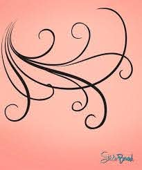 Vinyl Wall Decal Sticker Large Swirl Lines 710 Stickerbrand