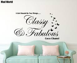 Free Shipping Classy And Fabulous Wall Art Sticker Decal Diy Home Decoration Wall Mural Removable Bedroom Sticker 56x94cm Classy Home Decor Olivia Decor Decor For Your Home And Office