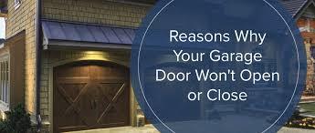 garage door won t open or close