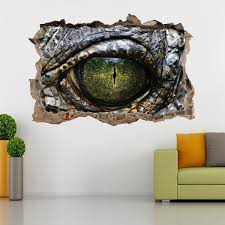 Crocodile Alligator Eye Reptile 3d Smashed Broken Decal Wall Sticker J Decalz Co