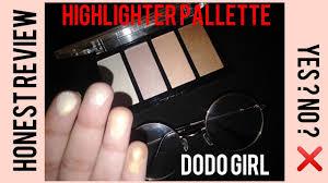 dodo highlighter pallette honest