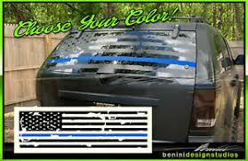 Blue Line Lives Matter American Flag Back Window Decal Fits Jeep Grand Cherokee Ebay