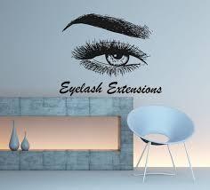 Eyelash Extension Wall Decal Eyelash Wall Sticker Custom Etsy