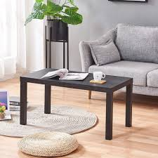 Amazon Com Black Wooden Coffee Table End Table For Living Room Rectangular Sofa Side Table For Corner Kids Bedroom Small Writing Desk For Small Apartment Office Black Home Kitchen