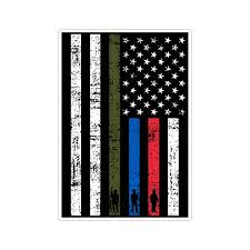 Thin Line Us American Flag Asst Support Military Police Fire Etsy