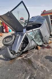 یک کشته و ۷ مجروح در تصادف سه خودرو در جاده میامی مشهد - ایسنا