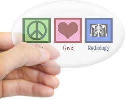 Amazon Com Cafepress Peace Love Radiology Oval Bumper Sticker Euro Oval Car Decal Home Kitchen