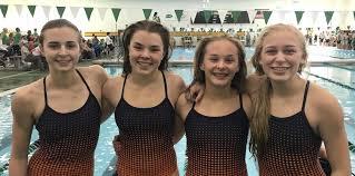 Girl's Swim Team Sets Two New Relay Records - Switzerland County School  Corporation