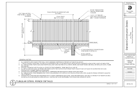Https Www Dallasparks Org Documentcenter View 3170 E 8 Tubular Steel Fence Details
