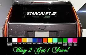 Starcraft 24 Vinyl Sticker Decal Car Truck Window Pick Color Boat Free Ebay
