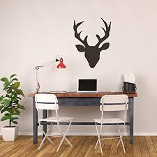 Deer Head Silhouette Vinyl Wall Vinyl Decor Wall Decal Customvinyldecor Com