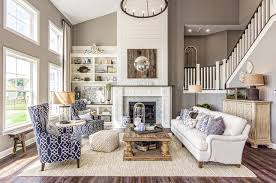 two story great room fireplace