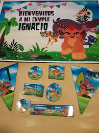 Rey Leon Kit Cumple Invitaciones Stickers Deco Canybar 1 399