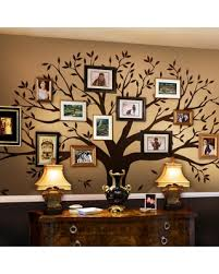 Spectacular Sales For Simple Shapes Family Tree Wall Decal Tree Wall Decal For Picture Frames In Chestnut Brown Small Size