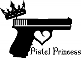 Pistol Princess With Crown And Gun For Women Girl Car Or Truck Window Decal Sticker Rad Dezigns