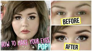 how to make your eyes look bigger pop