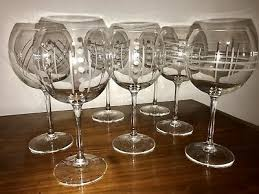 arc france lot of seven wine glasses