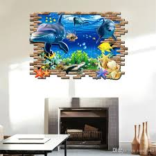 3d Wall Stickers Nursery Kids Room Wall Art Pictures Underwater World Fish Ocean Wallpape Home Decor Alphabet Wall Stickers Appliques For Walls From Tom1949 11 96 Dhgate Com