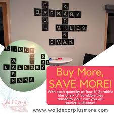 Alphabet Scrabble Tiles Wall Decal Stickers For Home Decor Personalized 3 Inch