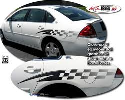 Checker Body Side Graphic Kit 1 For Chevrolet Impala