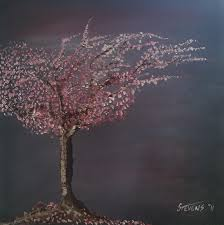 Cherry Tree Painting by Adrian Stevens
