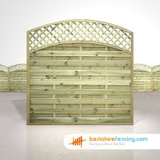 Convex Arched Lattice Top Fence Panels 6ft X 6ft Natural