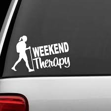 Hiker Girl Hiking Weekend Therapy Decal Sticker Camper Camping Tent Kayak Rear Window Car Sticker Car Stickers Aliexpress