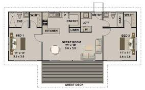 2 bedroom 2 bath house plan 93 6