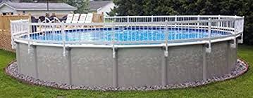 Amazon Com Vinylworks Canada 24 White Above Ground Pool Fence 3 Section Add On Kit Garden Outdoor