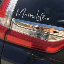 Mom Life Decal Car Auto Truck Window Bumper Vinyl Sticker Reflective White Ebay