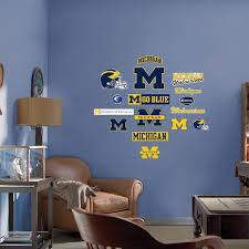 Fathead Junior Michigan Wolverines Logo Wall Decals