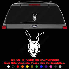 Amazon Com Donnie Darko Franko Die Cut Vinyl Decal Sticker For Car Truck Motorcycle Vehicle Window Bumper Wall Decor Laptop Helmet Size 6 Inch 15 Cm Tall And Color Gloss White