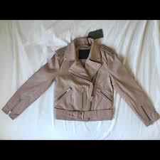 balfern blush leather jacket