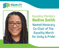 Nadine Smith Named Honorary Co-Chair of National Equality March for Unity  and Pride | Equality Florida