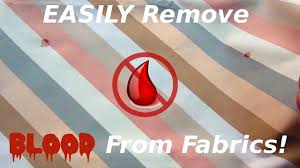 easily remove blood sns from fabric