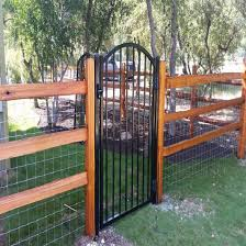 China Wholesale Customizatiom A Metal Gate With One Side Open China Fence And Fence Panel Price