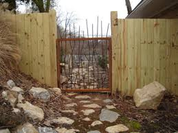 Gates And Fencing Piron Gate And Wood Fence