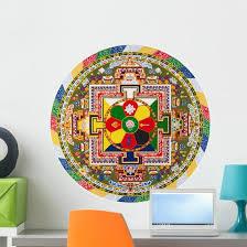 Tibetan Mandala Wall Decal Wallmonkeys Com