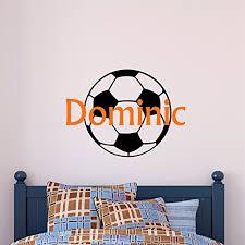 Custom Name Soccer Wall Decal Boys Girls Personalized Name Soccer Sports Wall Sticker Custom Name Sign