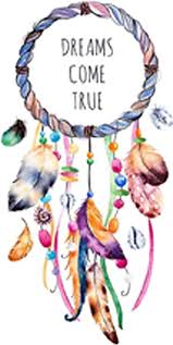 Amazon Com Dreams Come True Pretty Dream Catcher With Rainbow Feathers Vinyl Decal Sticker 12 Arts Crafts Sewing