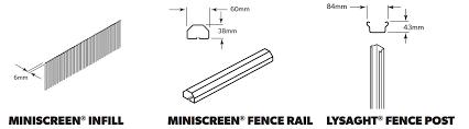 Lysaght Miniscreen Fencing Steel Select