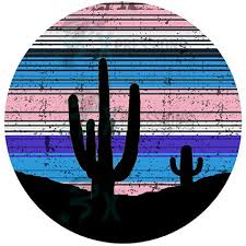 Circle Cactus Silhouette Decal Adhesive Decal Adhesive Decal Tumble Bling3t