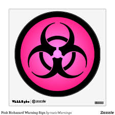 Pink Biohazard Warning Sign Wall Decal Zazzle Com In 2020 Wall Signs Biohazard Custom Wall Decal