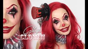 glitzy clown makeup tutorial