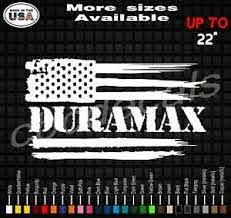 Duramax American Flag Vinyl Decal Sticker Duramax Diesel Truck Decals Ebay